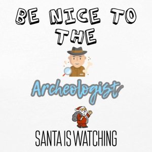 Be nice to the archeologist Santa is watching - Women's Premium Longsleeve Shirt