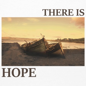 There_is_hope_natural_colour - Dame premium T-shirt med lange ærmer