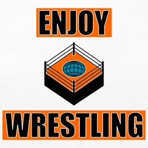 ENJOY_WRESTLING_ORANGE_DesASD - Långärmad premium-T-shirt dam