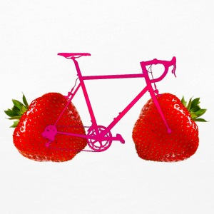 Strawberry Bike - Långärmad premium-T-shirt dam