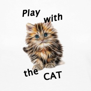 Play_Cat_Black2 - Långärmad premium-T-shirt dam