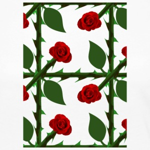 Red Rose Pattern - Premium langermet T-skjorte for kvinner