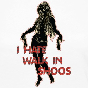 i HATE walk in shoos black - Women's Premium Longsleeve Shirt
