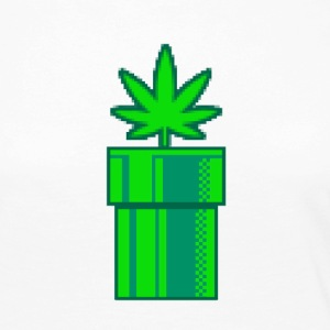 Weed Retro - T-shirt manches longues Premium Femme