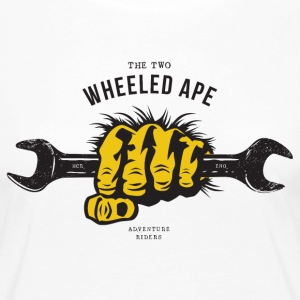 The Two Wheeled ape, Ape Handed, Motorbike Tshirt - Women's Premium Longsleeve Shirt