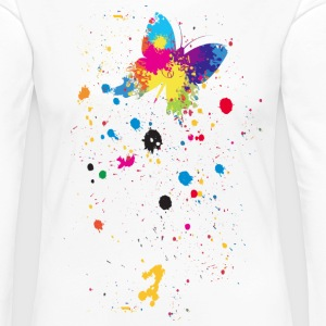 Spray Schmetterling - Frauen Premium Langarmshirt