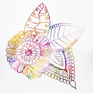 Tattoo flower leaves Abstract Colorful plant pattern - Women's Premium Longsleeve Shirt