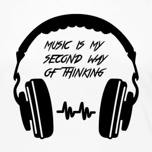 Music is my second way of thinking - Maglietta Premium a manica lunga da donna
