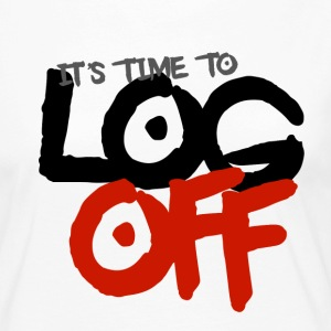 It's time to log off - Women's Premium Longsleeve Shirt