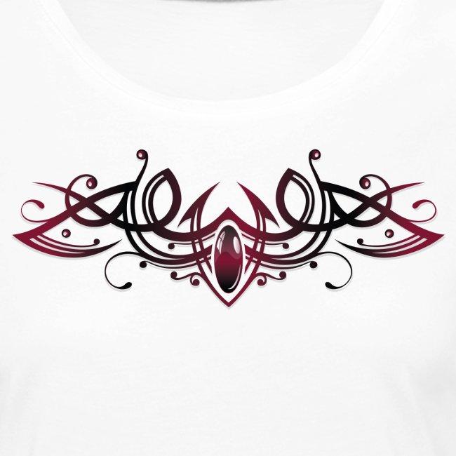 Tribal med ædelsten og farverige effekter   Dame premium T shirt med lange ærmer
