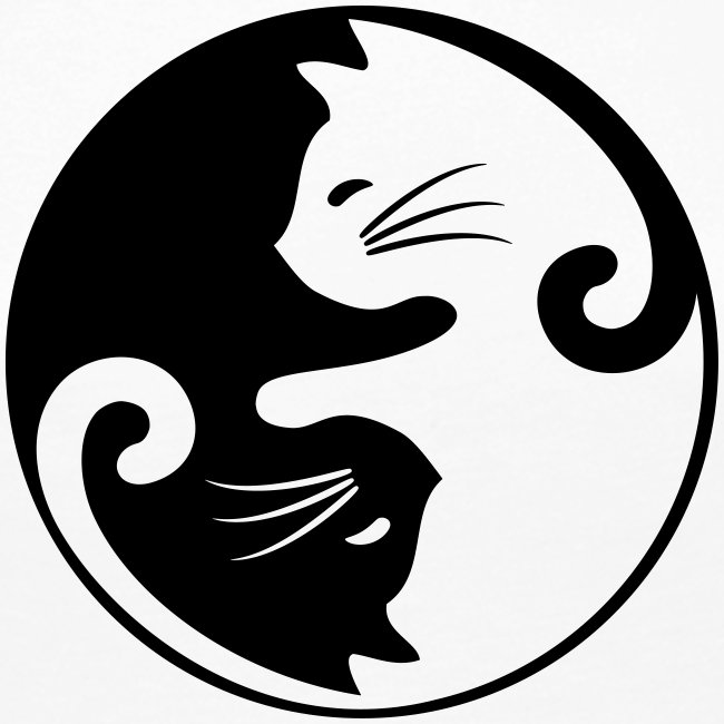 Vorschau: yin yang cat - Frauen Premium Langarmshirt