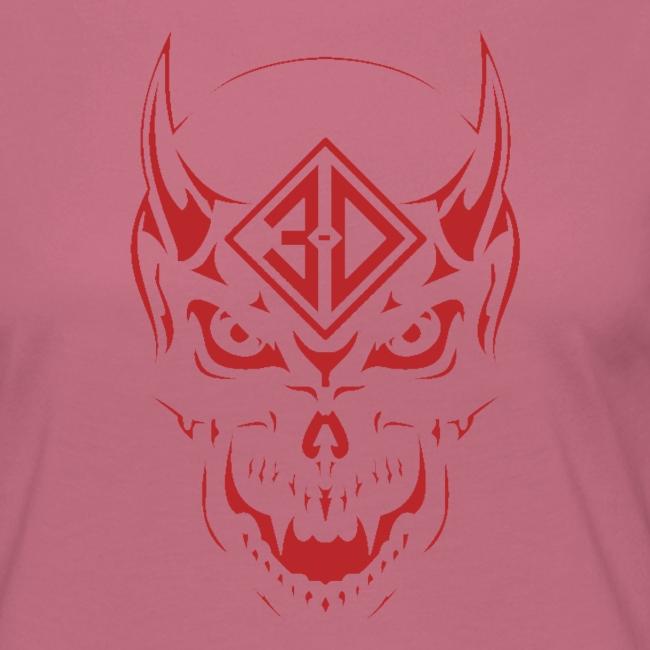 devil skull red
