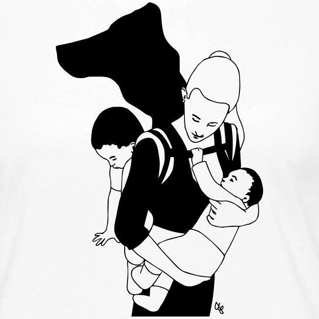 Babycarrying Super Hero Mom 05