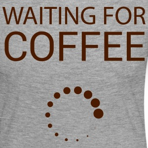 Wainting for Coffee - T-shirt manches longues Premium Femme