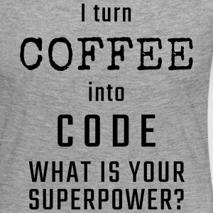 I turn COFFEE into CODE - What is your superpower? - Koszulka damska Premium z długim rękawem