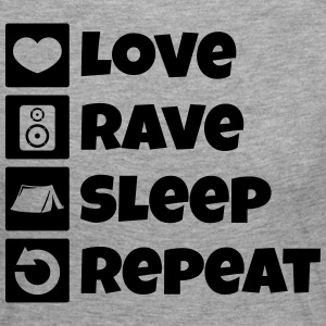Love rave sleep repeat festival - Women's Premium Longsleeve Shirt