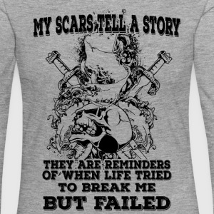 My scars tell a story (dark) - Women's Premium Longsleeve Shirt