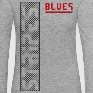 Blues Stripes - Premium langermet T-skjorte for kvinner