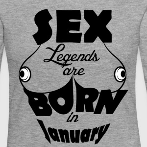 Birthday January Boobs Sex Tits Busted - Women's Premium Longsleeve Shirt