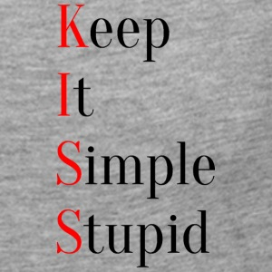 KISS - Keep It Simple Stupid - Långärmad premium-T-shirt dam
