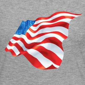 Waving USA flag - Women's Premium Longsleeve Shirt