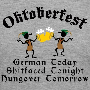 Funny Oktoberfest Drinking Beer Drunk Hungover - T-shirt manches longues Premium Femme