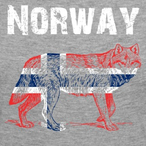 Nation-Design Norway Wolf - Frauen Premium Langarmshirt