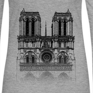 Around The World: Notre Dame - Paris - T-shirt manches longues Premium Femme