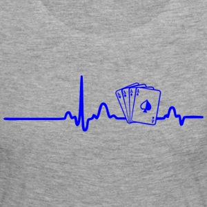 ECG HEART LINE POKER PLAYER blue - Women's Premium Longsleeve Shirt