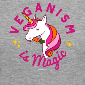 Vegan Unicorn T-shirt - Veganisme er Magic (Pink) - Dame premium T-shirt med lange ærmer