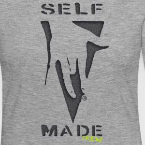 "Self Made Crew logo ""poignée de main"". Design by Ostap - T-shirt manches longues Premium Femme"