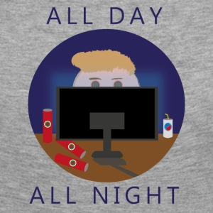 All Day - All Night | gaming - Vrouwen Premium shirt met lange mouwen