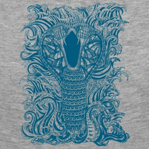 Snake-and-Water-in-Blue - Women's Premium Longsleeve Shirt