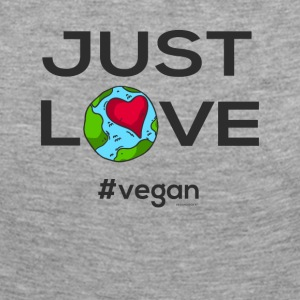 "Vegan T-shirt ""Just LOVE #vegan"" - Långärmad premium-T-shirt dam"