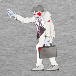 Zombie Collection: Suit Zombie - Dame premium T-shirt med lange ærmer