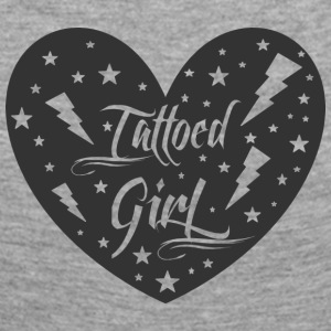 tattoed_girl - Långärmad premium-T-shirt dam