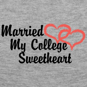 Just Married My College sweetheart - T-shirt manches longues Premium Femme