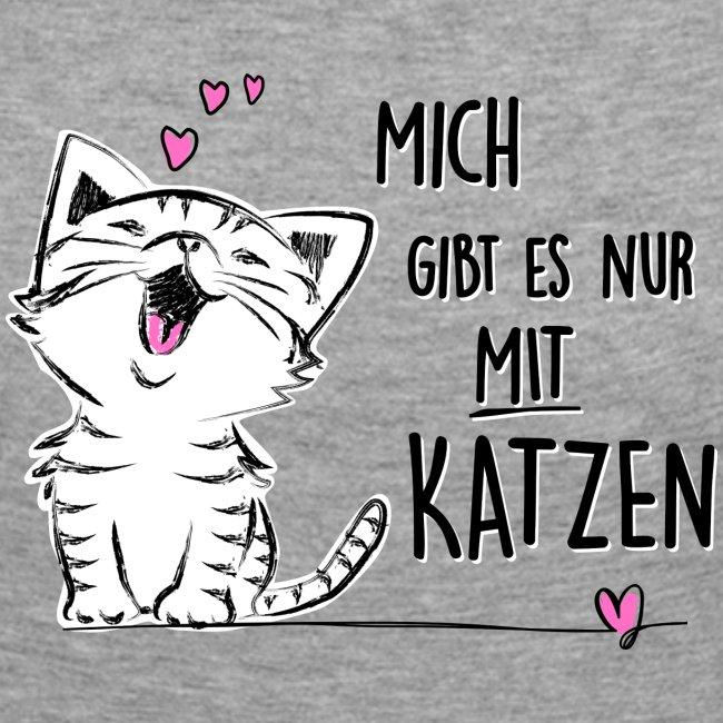 Vorschau: Mich gibts nur mit Katzen - Frauen Premium Langarmshirt