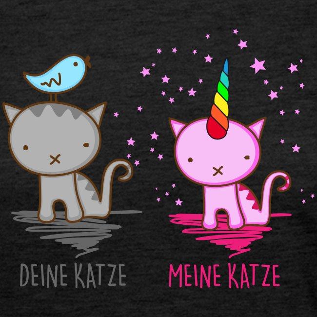 Vorschau: Deine Katze vs. Meine Katze - Frauen Premium Langarmshirt