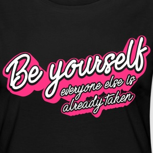 Beyourself White Magenta - T-shirt manches longues Premium Femme
