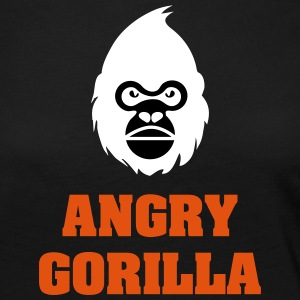 angry_gorilla_white - T-shirt manches longues Premium Femme