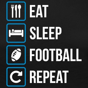Eat Sleep American Football Gjenta - Premium langermet T-skjorte for kvinner