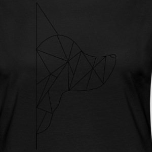 Triangle-Dog - Camiseta de manga larga premium mujer