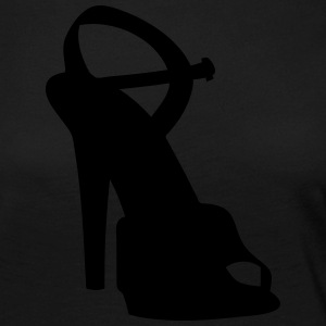Vector highheels Silhouette - T-shirt manches longues Premium Femme