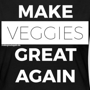 FAIRE VEGGIES GREAT AGAIN blanc - T-shirt manches longues Premium Femme