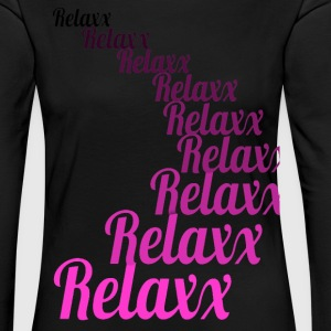 Relax rose - T-shirt manches longues Premium Femme