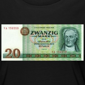 20 mark bill of DDR - Vrouwen Premium shirt met lange mouwen