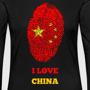 I LOVE CHINA - Frauen Premium Langarmshirt