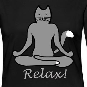 Relax Yoga Cat - Women's Premium Longsleeve Shirt