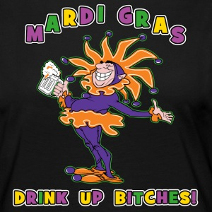 Mardi Gras Drink Up Bitches - T-shirt manches longues Premium Femme